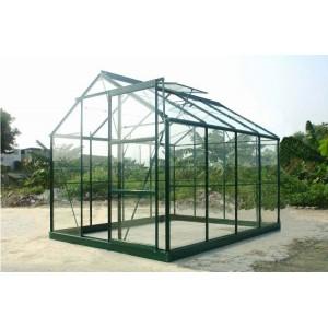 Serre de jardin verte en verre 4,65 m²