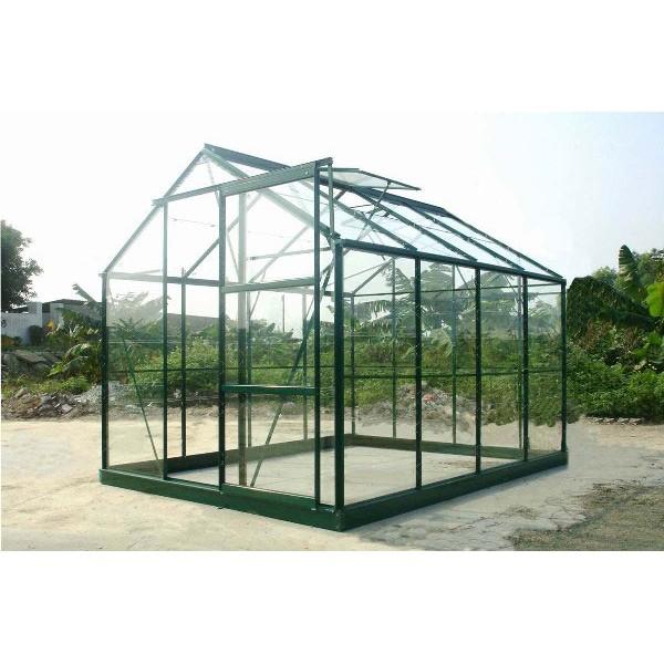 serre de jardin verte en verre 4 65 m. Black Bedroom Furniture Sets. Home Design Ideas