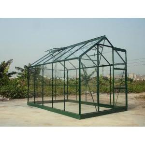 Serre de jardin verte en verre 5,77 m²
